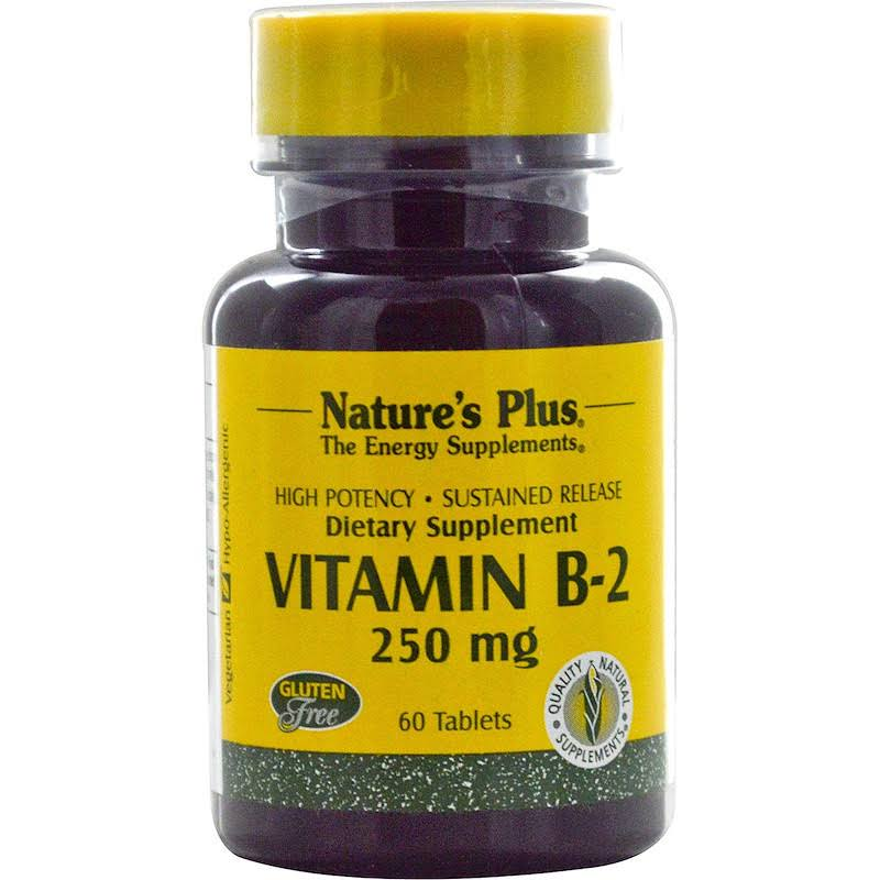 Nature's Plus Vitamin B-2 - 250mg, 60 Tablets