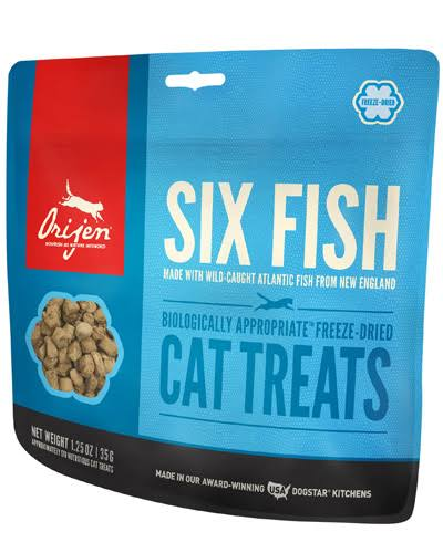 ORIJEN Freeze Dried Cat Treats Six Fish 1.25oz