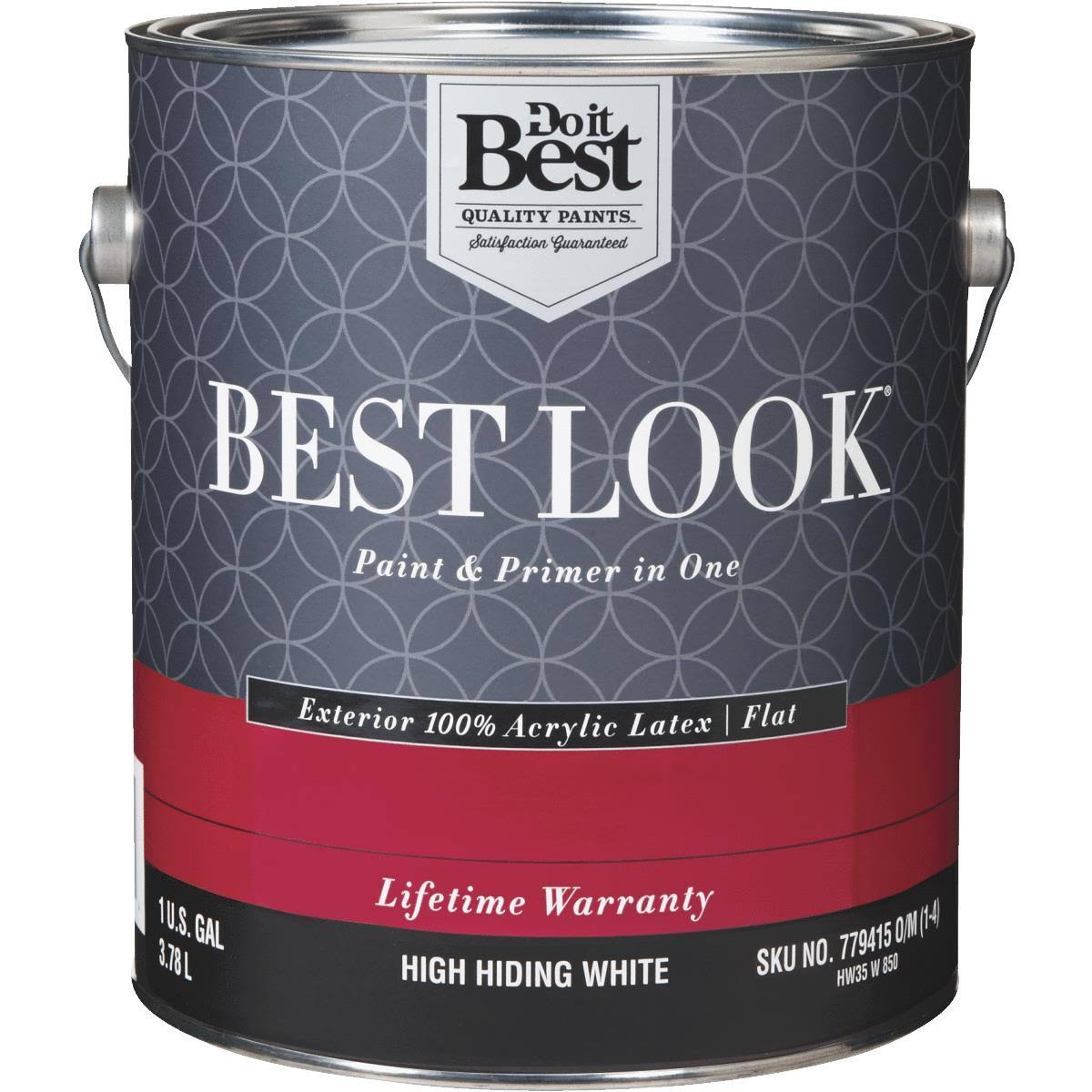 - HW35W0850-16 Best Look 100% Acrylic Latex Paint & Primer in One Flat Exterior House Paint