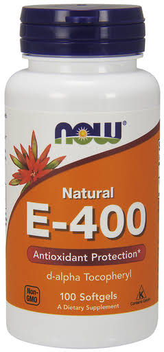 Now Natural E-400 Dietary Supplement - 100 Softgels