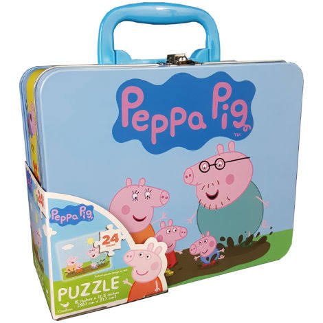 Cardinal Games Peppa Pig Puzzle - in Tin Lunch Box, 24pcs