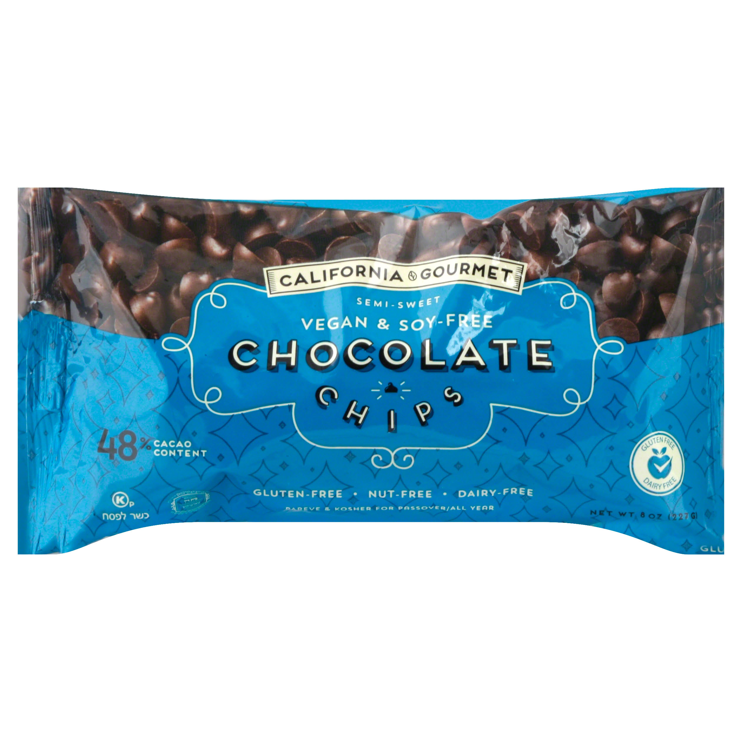 California Gourmet Chocolate Chips, Semi-Sweet - 8 oz