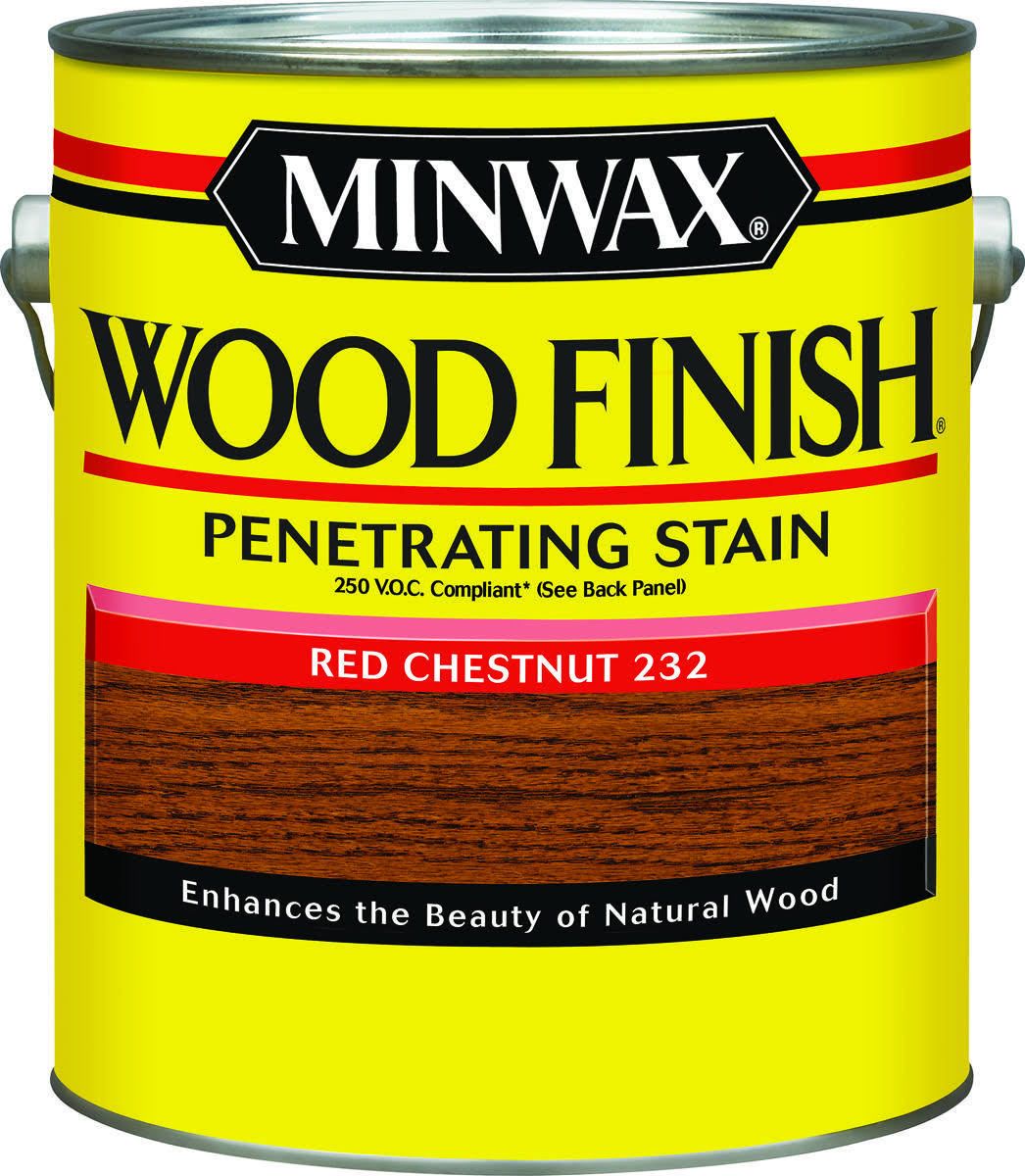 Minwax Wood Finish Penetrating Stain - Red Chestnut 232, 1gal