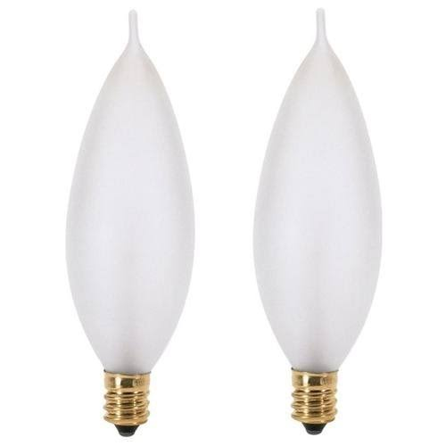 Satco Incandescent Bulb - Frost, Candelabra Base, 60W, Soft White