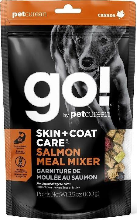 Go! Skin + Coat Care Grain Free Freeze Dried Salmon Meal Mixer for Dogs, 3.5 oz