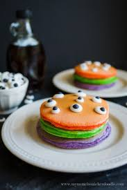 Ideas For Halloween Food Names by Halloween Trick Or Treat Pancake Recipe Halloween Tricks