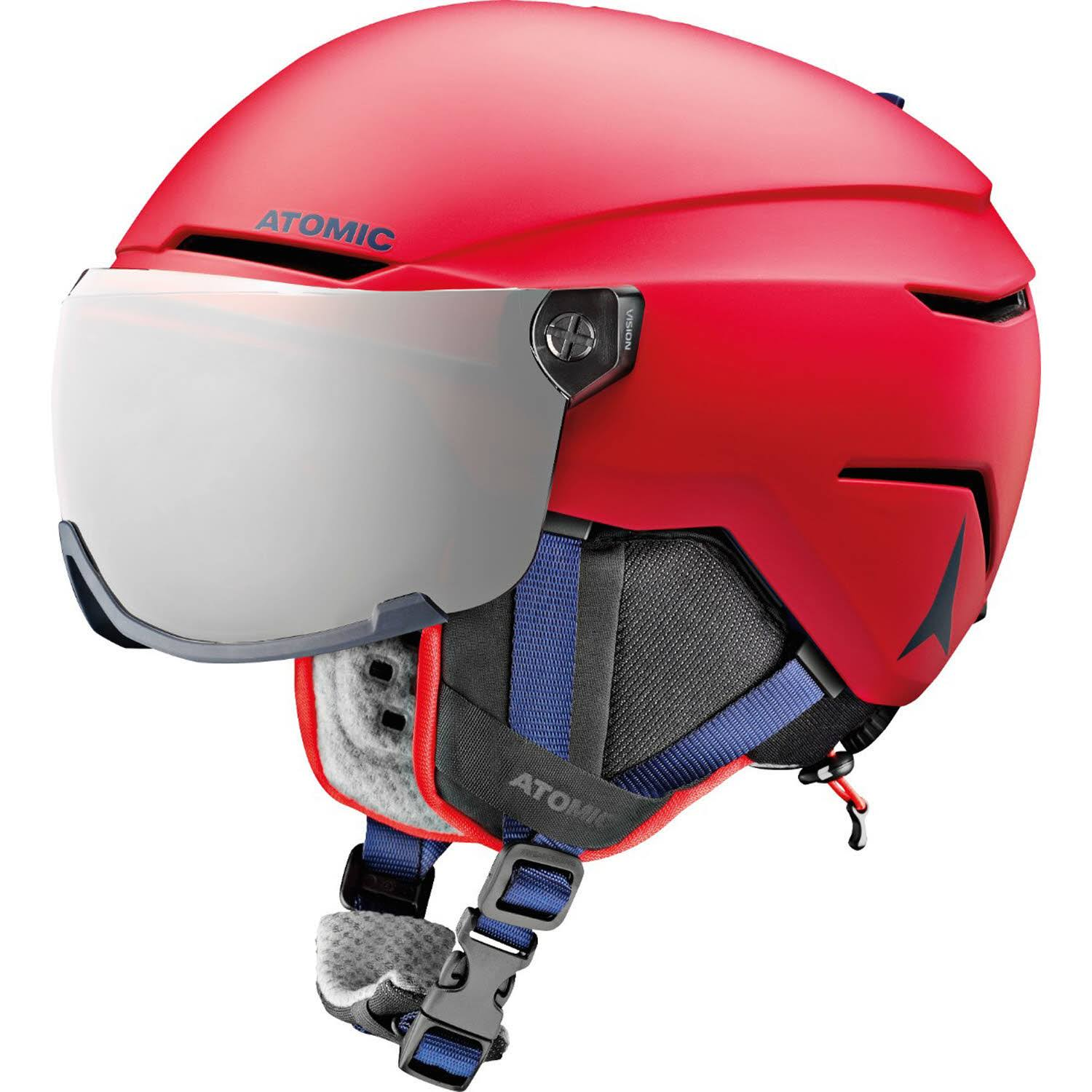 Atomic Kid's Savor Visor Jr Ski Helmet - Red - AN5005722 Red - 51-55