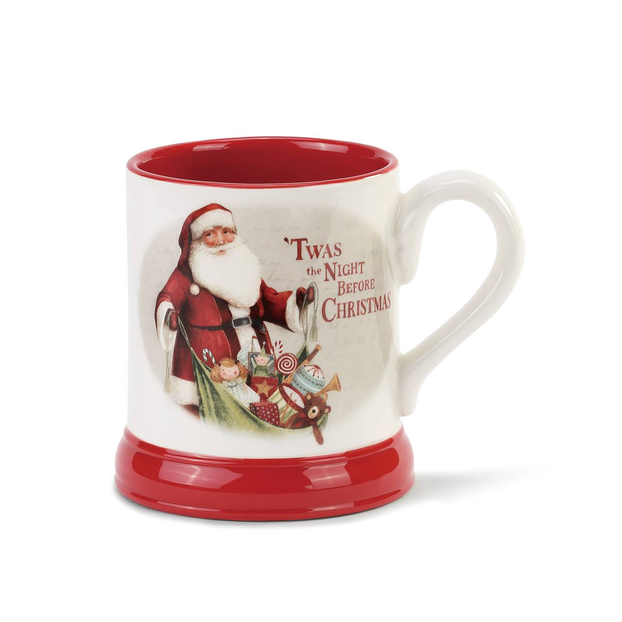 "Holiday Mercantile Twas The Night Before Christmas. Stoneware. 4.5"" H."