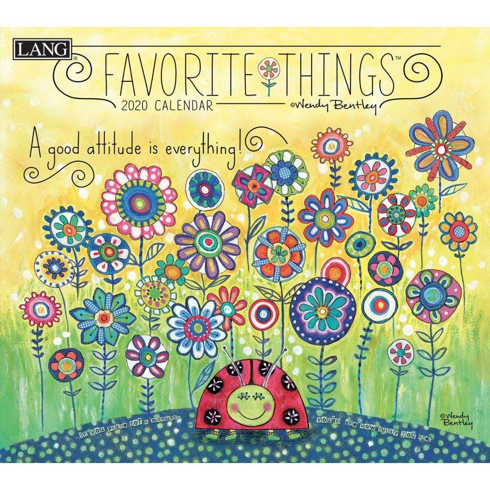 Lang Companies, 2020 Favorite Things Wall Calendar