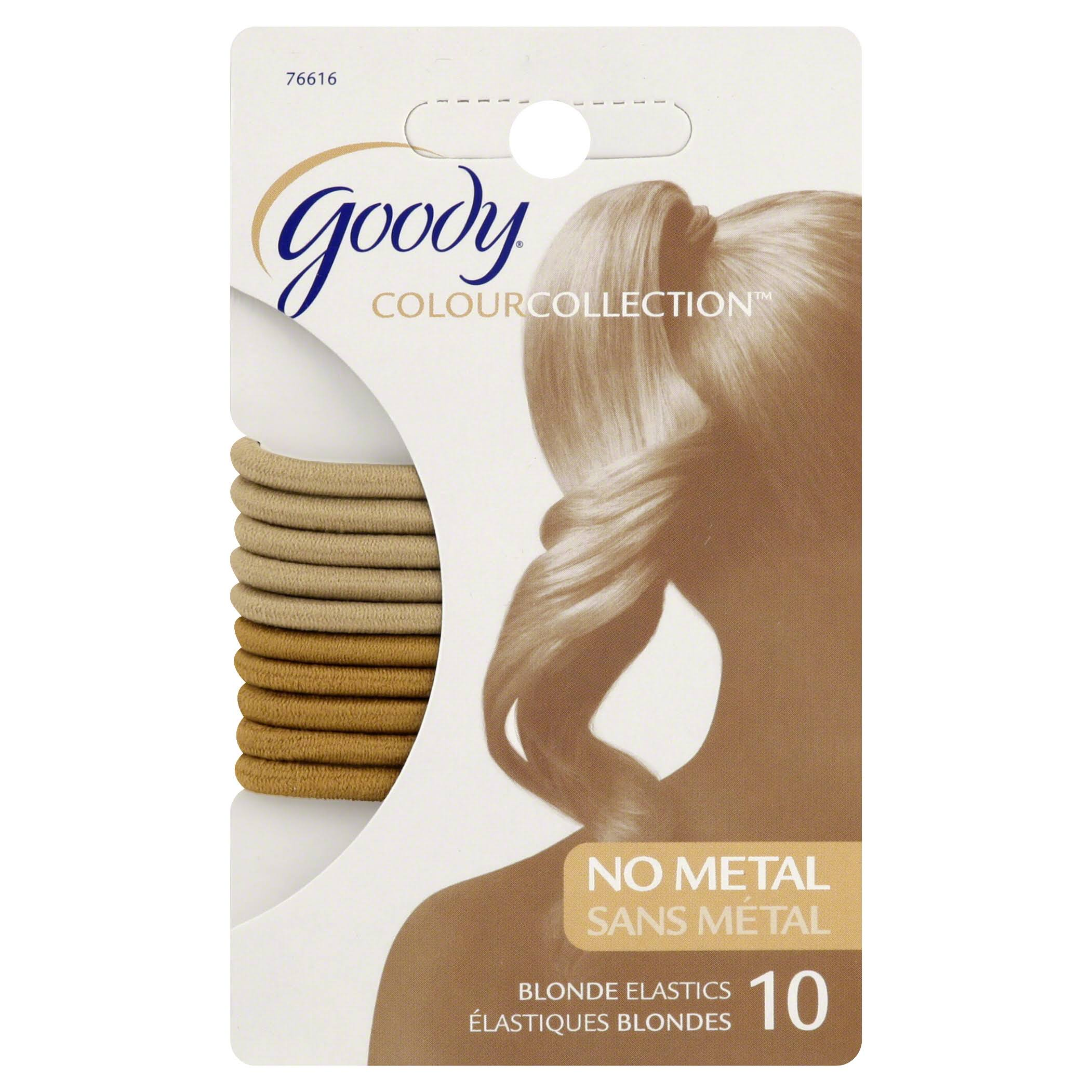 Goody Colour Collection Elastics - 4mm, Blonde, 10ct