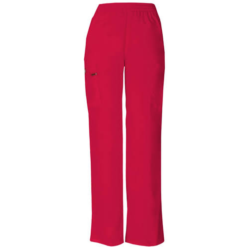 Dickies EDS Signature Women's Missy Fit Pull-On Scrub Pant - Red (XS)