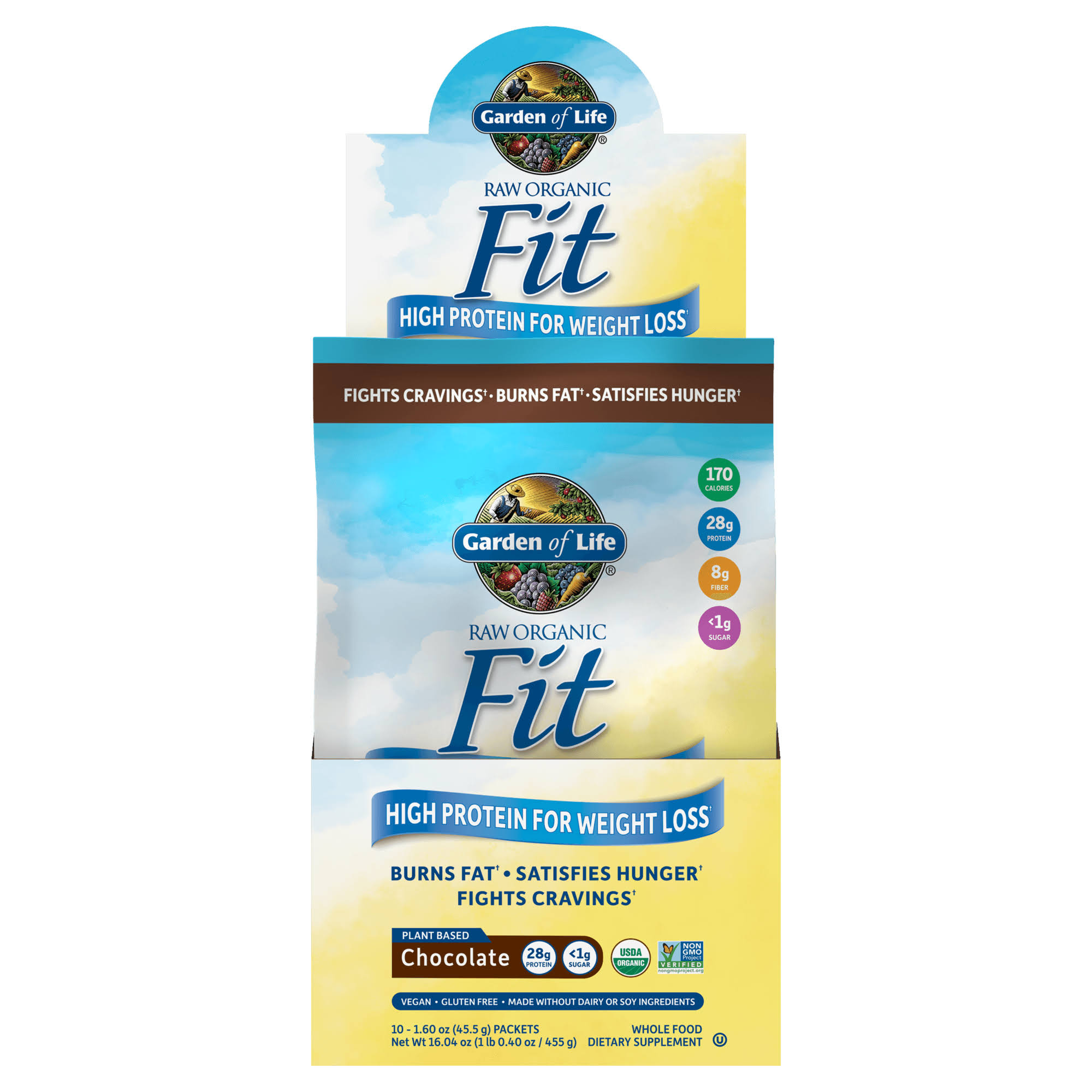 Garden of Life Raw Fit Protein Tray Powder - Chocolate, 10ct