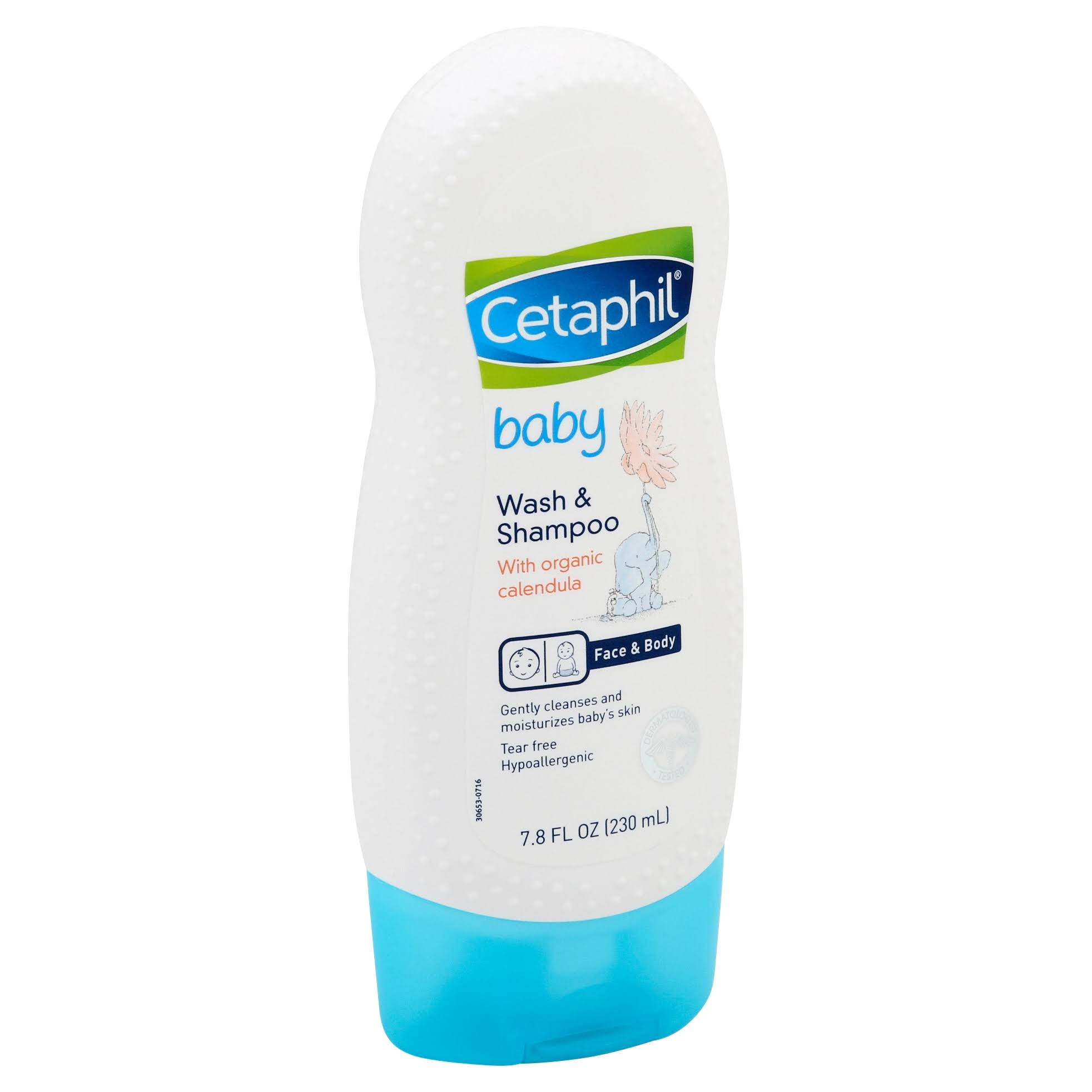 Cetaphil Baby Wash and Shampoo - with Organic Calendula, 230ml