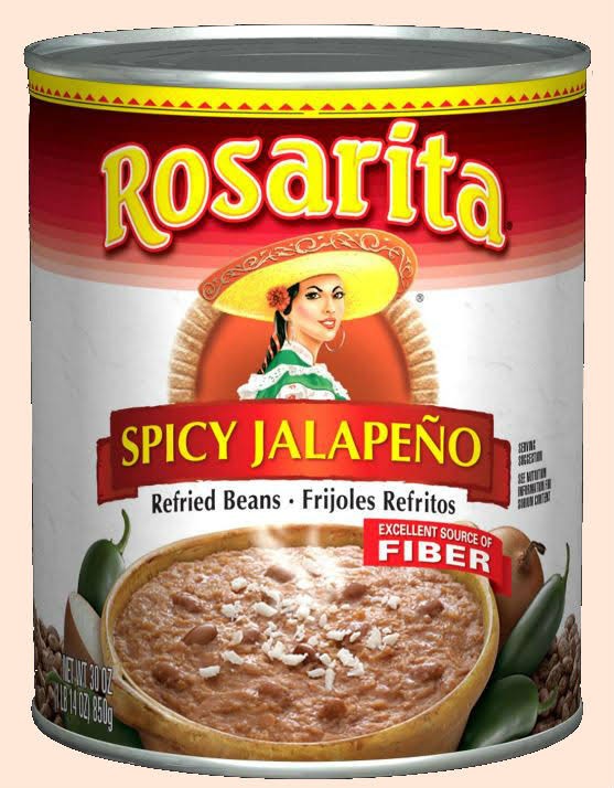 Rosarita Refried Beans, Spicy Jalapeno - 30 oz