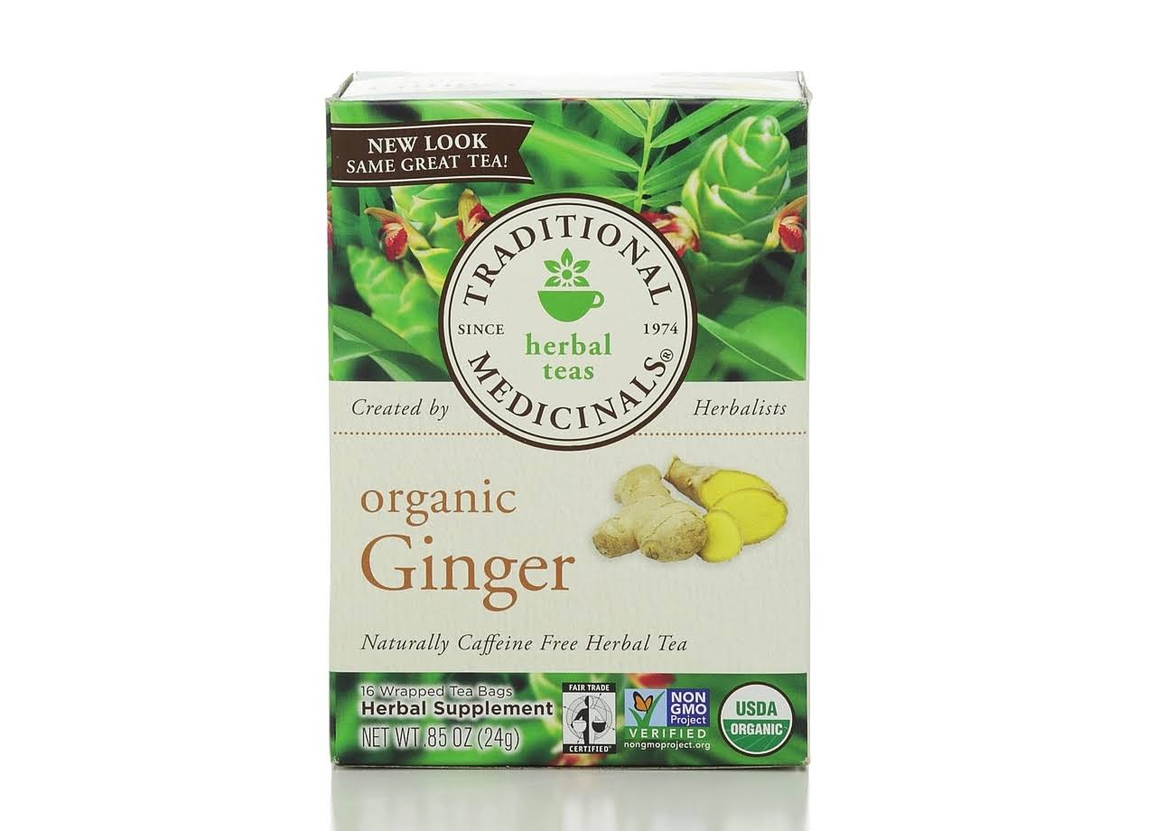 Traditional Medicinals Organic Ginger Wrapped Tea Bag - 16ct, 0.85oz
