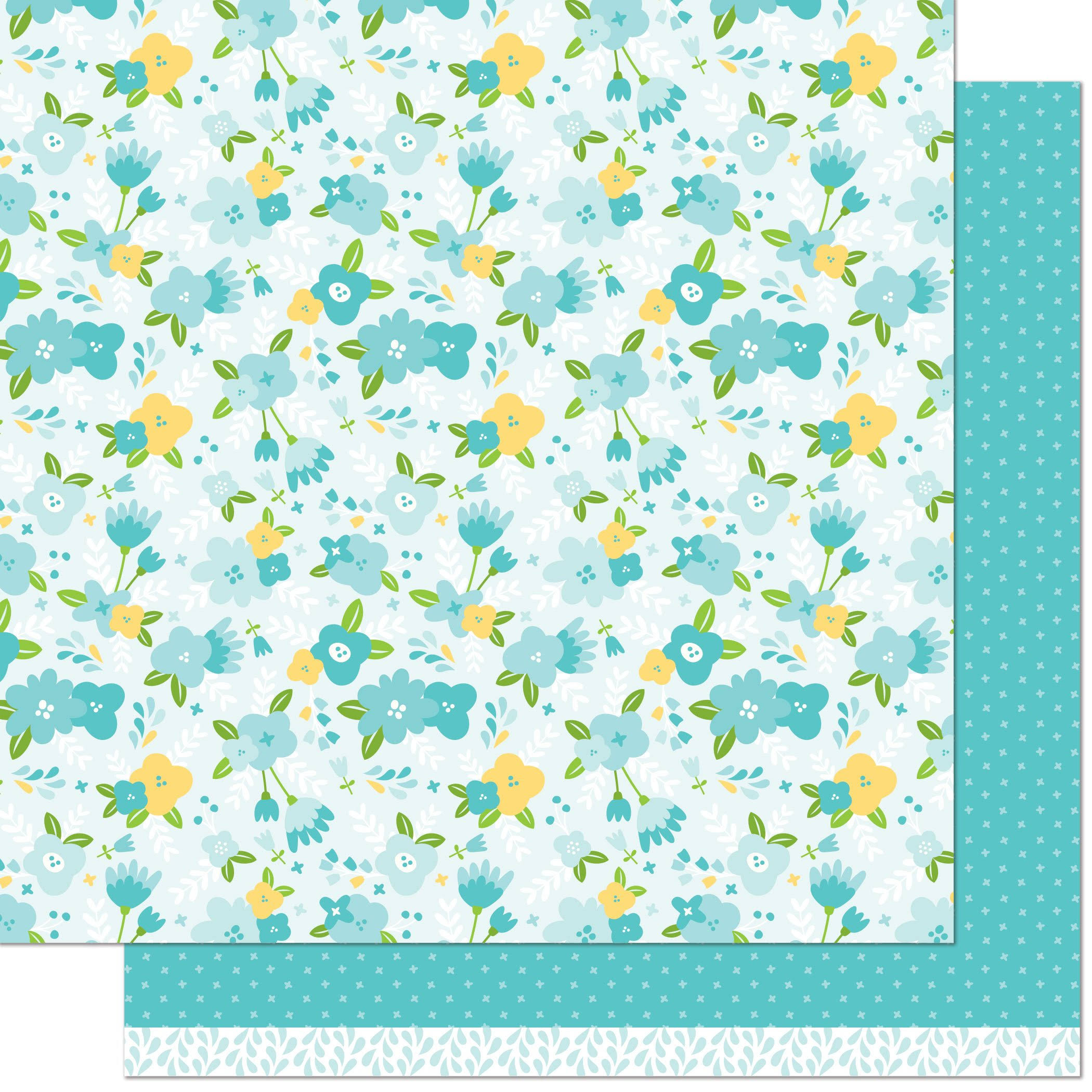 "Lawn Fawn Spring Fling Collection Double Sided Paper - Julia, 12"" x 12"""