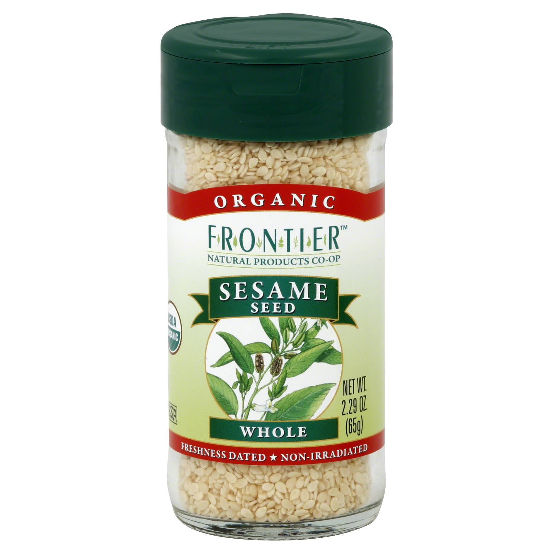 Frontier Herb Organic Sesame Seed - Whole, 2.32oz