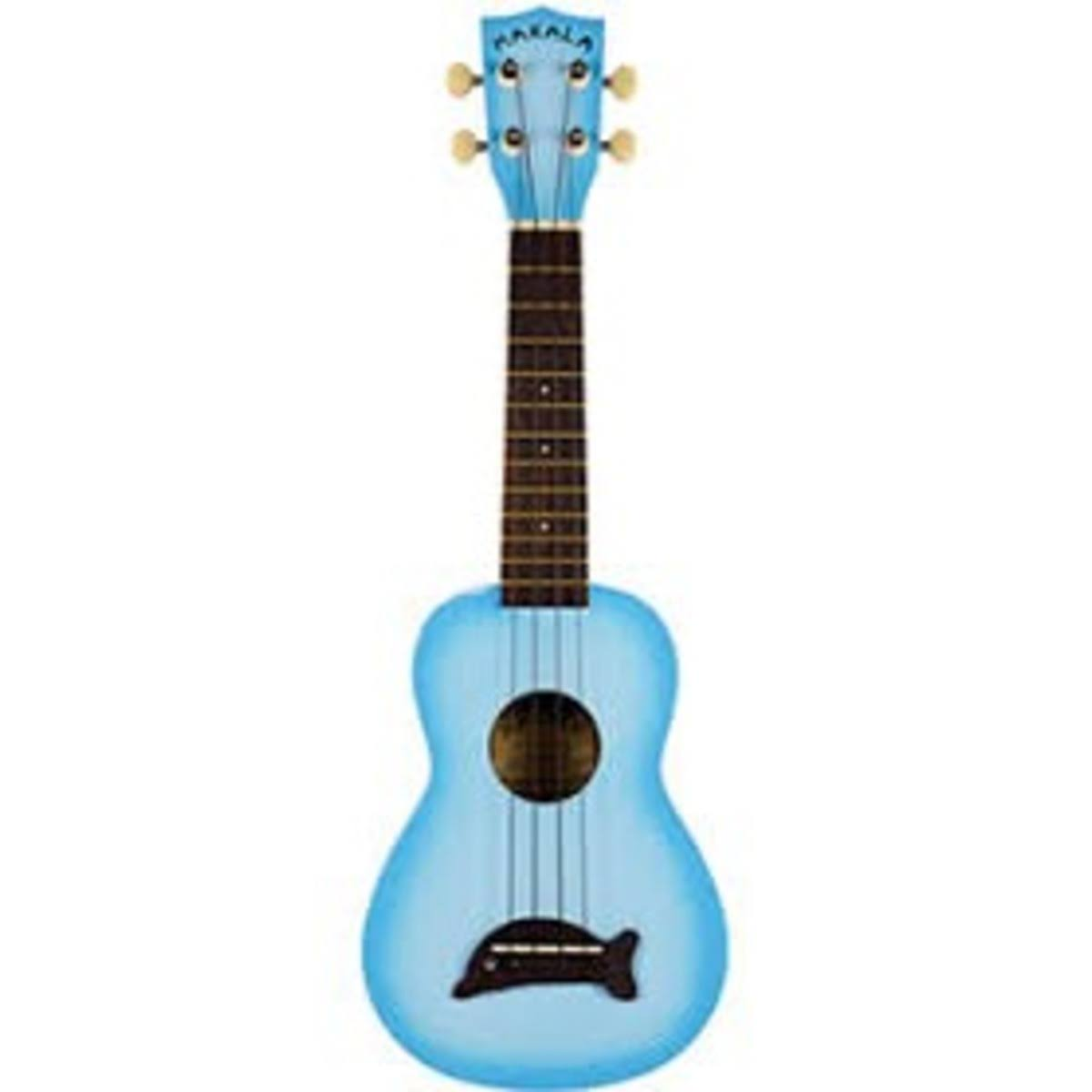 Kala \Makala Dolphin Ukulele - Soprano, Light Blue Burst Gloss
