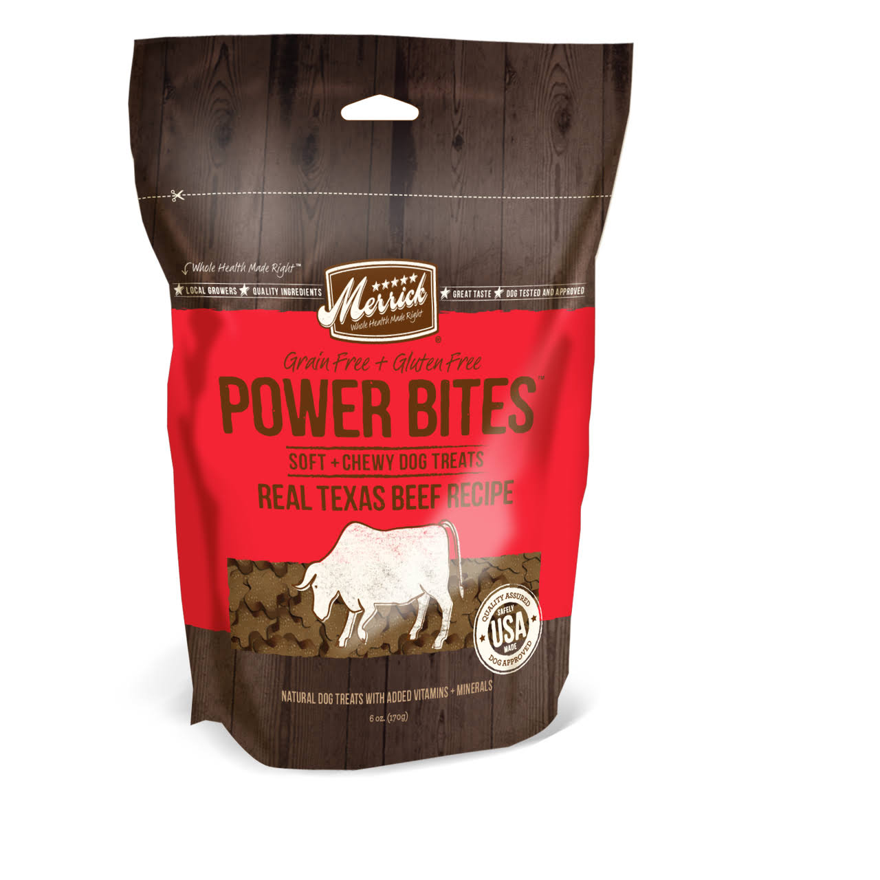 Merrick Power Bites Soft and Chewy Beef Dog Treats - 6oz