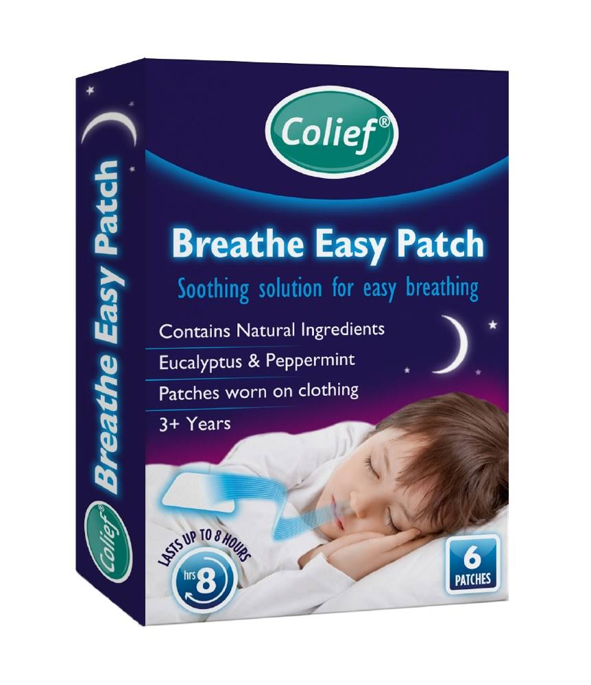 Colief Breathe Easy Patch - 6ct