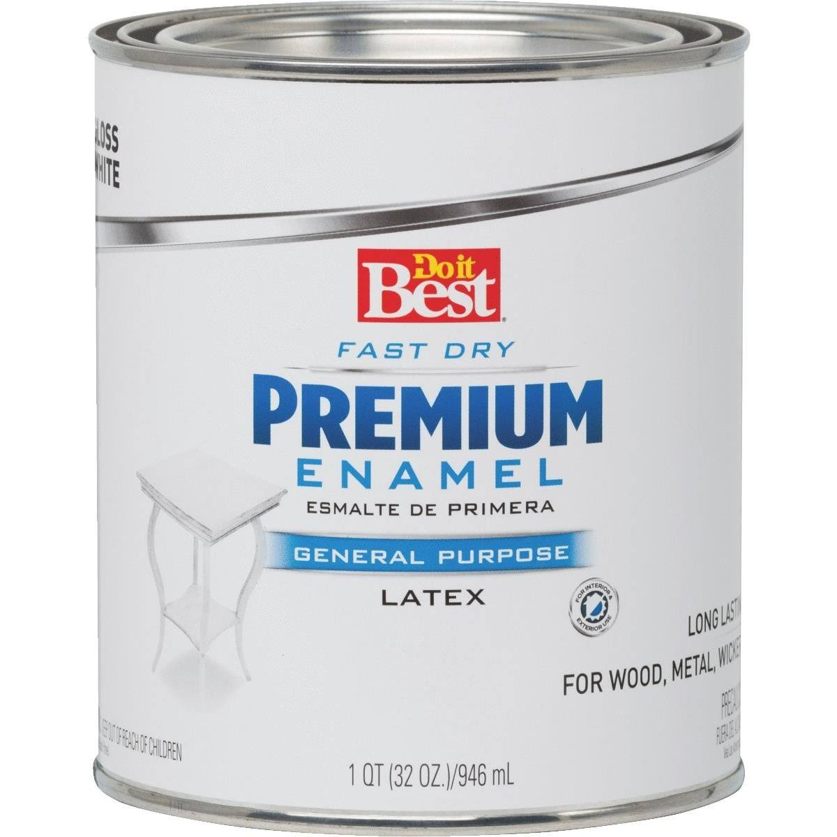 Rust Oleum Do it Best Premium Latex Enamel - White, 1qt
