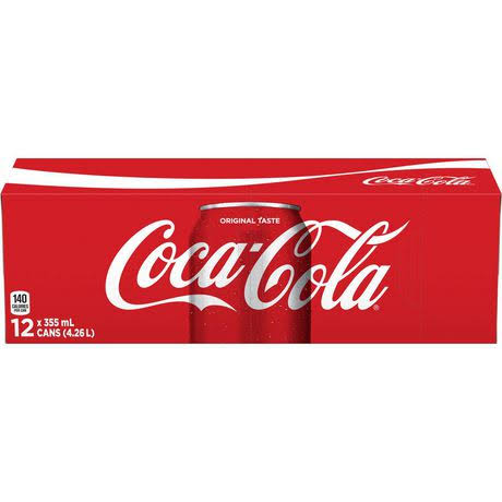 Coca-Cola Coke Classic 355 ml 12 Pack Soft Drinks Imported from Canada