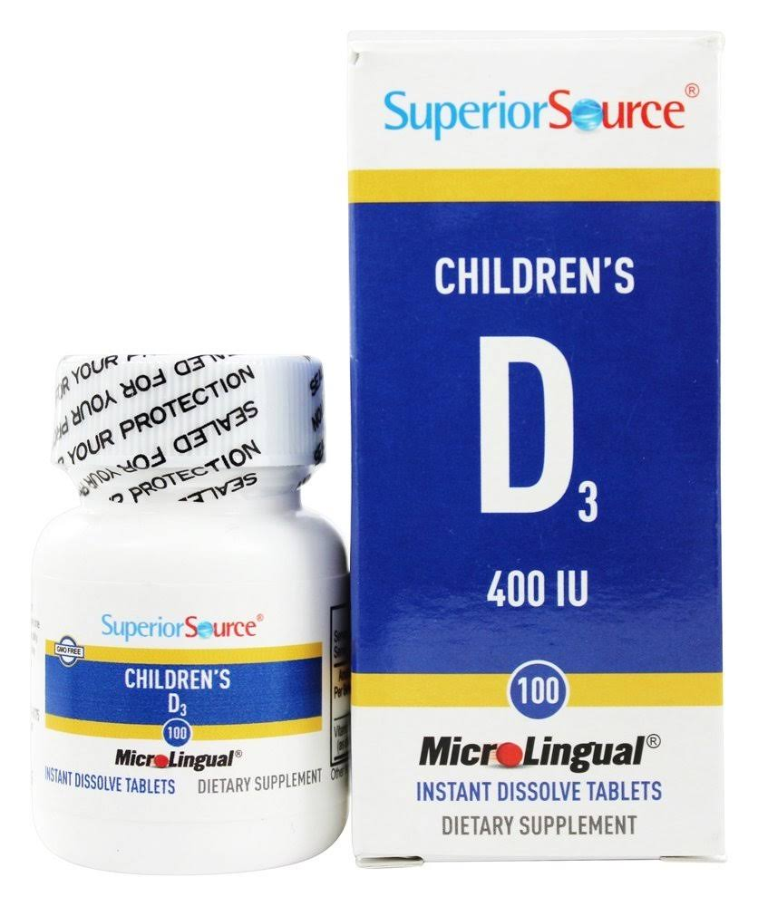 Superior Source Children's Vitamin D Dietary Supplement - 100ct