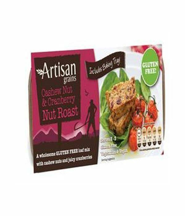 Artisan Grains Gluten Free Cashew Nuts & Cranberry Nut Roast