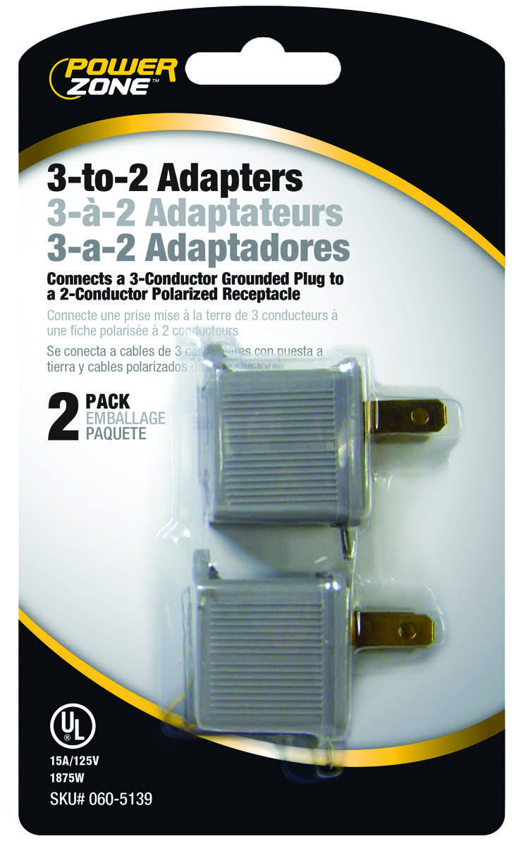 Power Zone 3-to-2 Adapters - 2 Pack