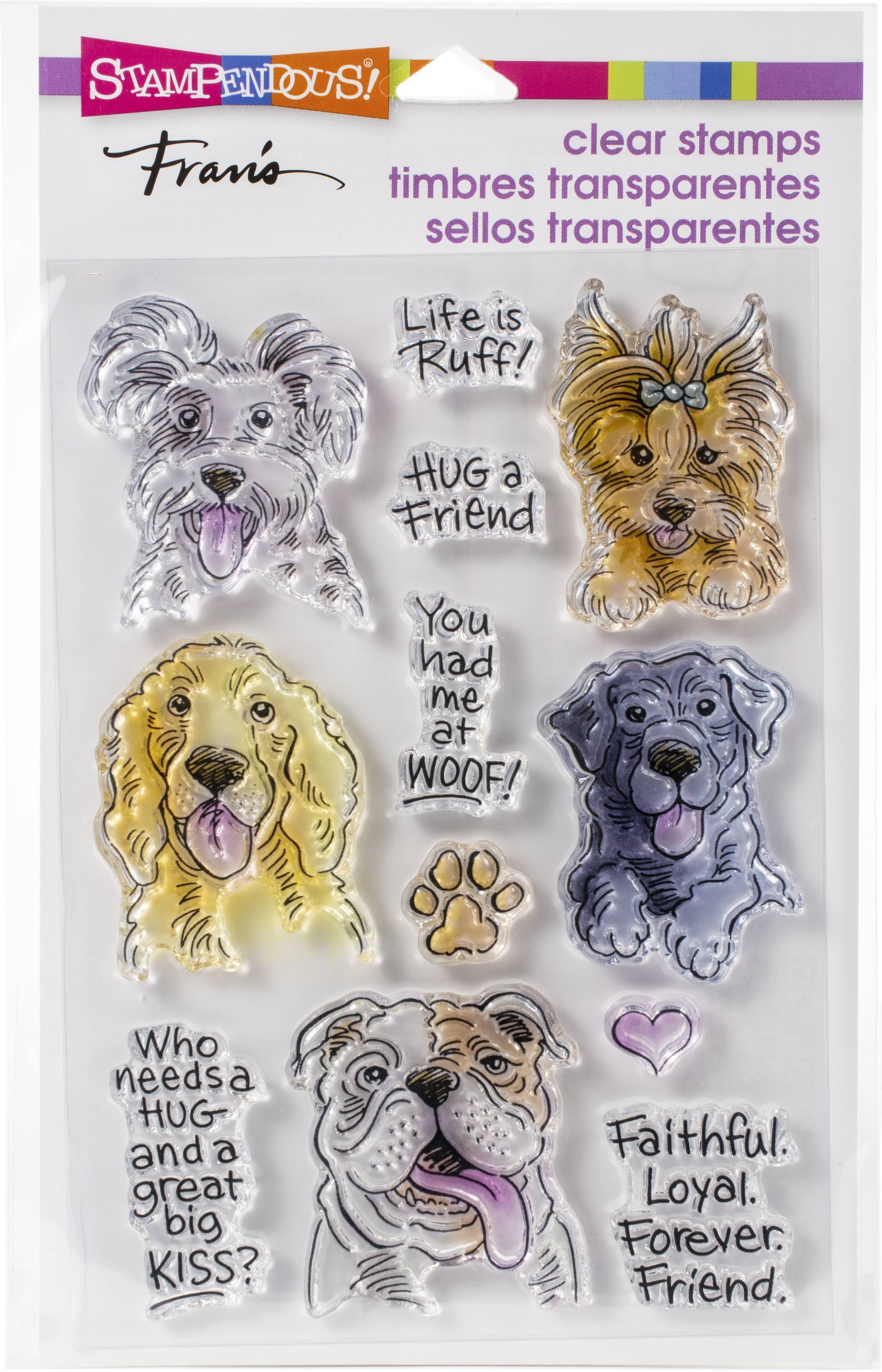 Stampendous Dog Kisses Stamps