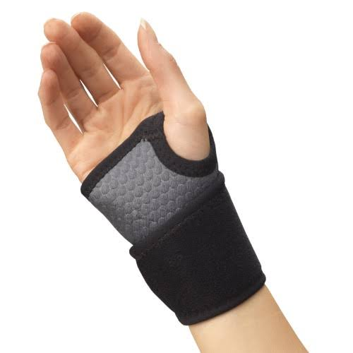 Champion Wrist Wrap Support, Universal Fit, Airmesh Fabric, Grey