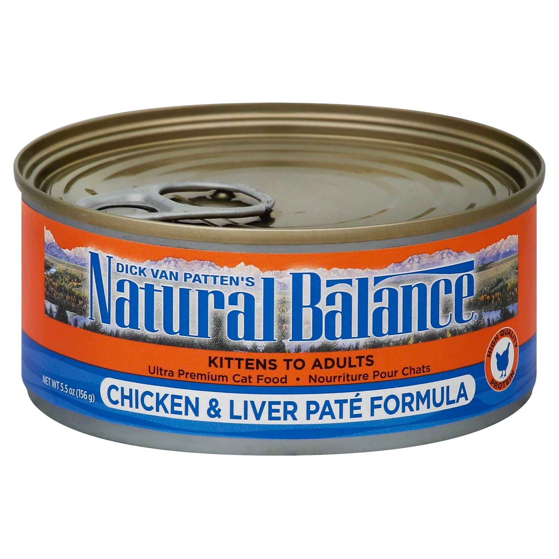 Natural Balance Ultra Premium Chicken and Liver Pate Formula Cat Food, 5.5 oz Can