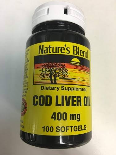 Nature's Blend Cod Liver Oil Dietary Supplement - 100ct