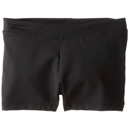 Capezio Girls' Boy Cut Low Rise Shorts - Black, Large