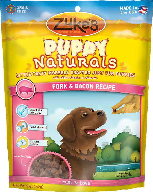 Zuke's Puppy Naturals Pork with Bacon Recipe Puppy Treats, 5 oz.