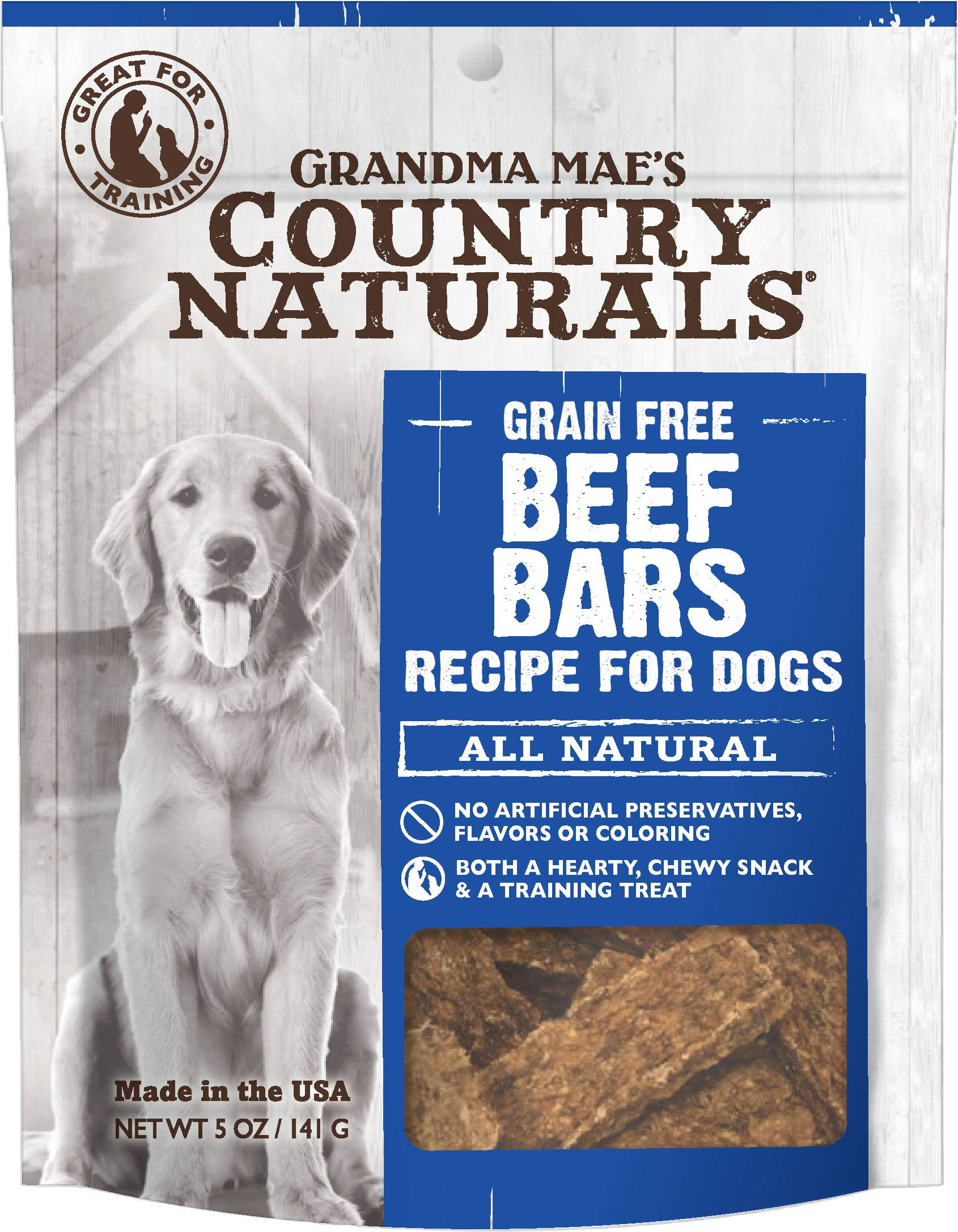 Grandma Mae S Country Nat Country Naturals Dog Treat Beef 5oz