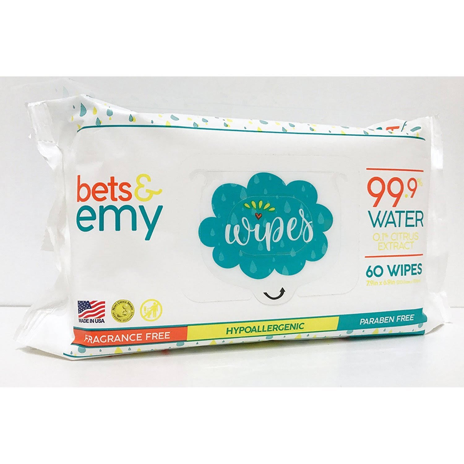 Bets & Emy Baby Wipes - 60 Count