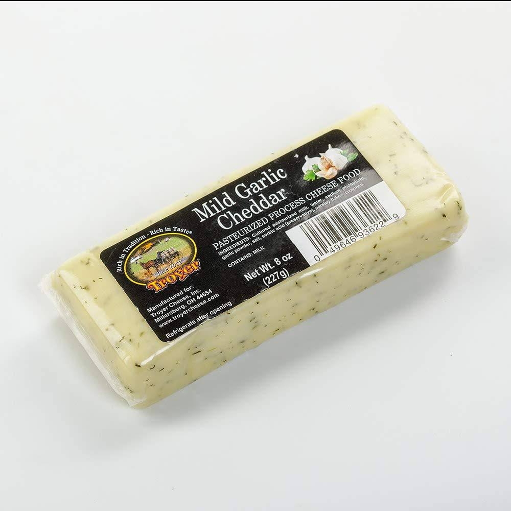 Troyer 8 oz Mild Garlic Cheddar Cheese