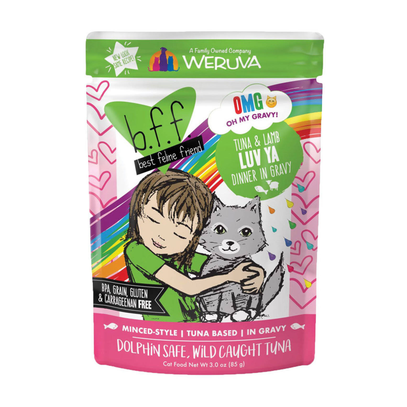 BFF Adult Cat Wet Food - Tuna & Lamb Luv-Ya, 85g