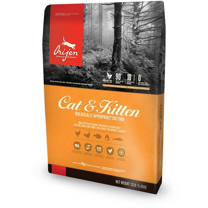 Orijen Cat & Kitten Grain Free Dry Cat Food - 12 lb bag