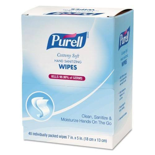 "Purell Cottony Soft Individually Wrapped Hand Sanitizing Wipes - 40ct, 5"" x 7"""