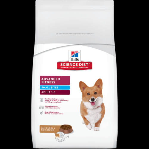 Hill's Science Diet Advanced Fitness Small Bites Dog Food - Lamb Meal and Rice Recipe, Adult 1-6, 15.5lbs