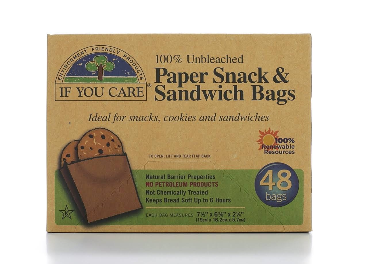 If You Care Paper Snack and Sandwich Bags - 48pcs