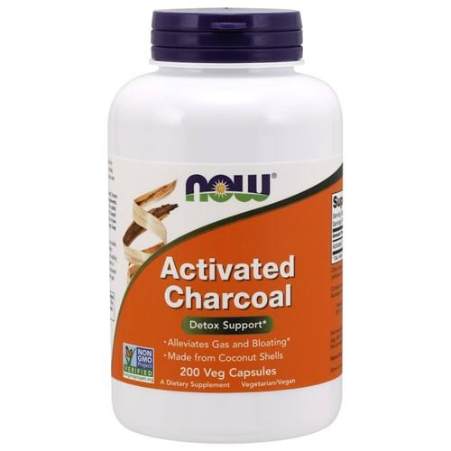 Now Foods Activated Charcoal 200 Veg Capsules