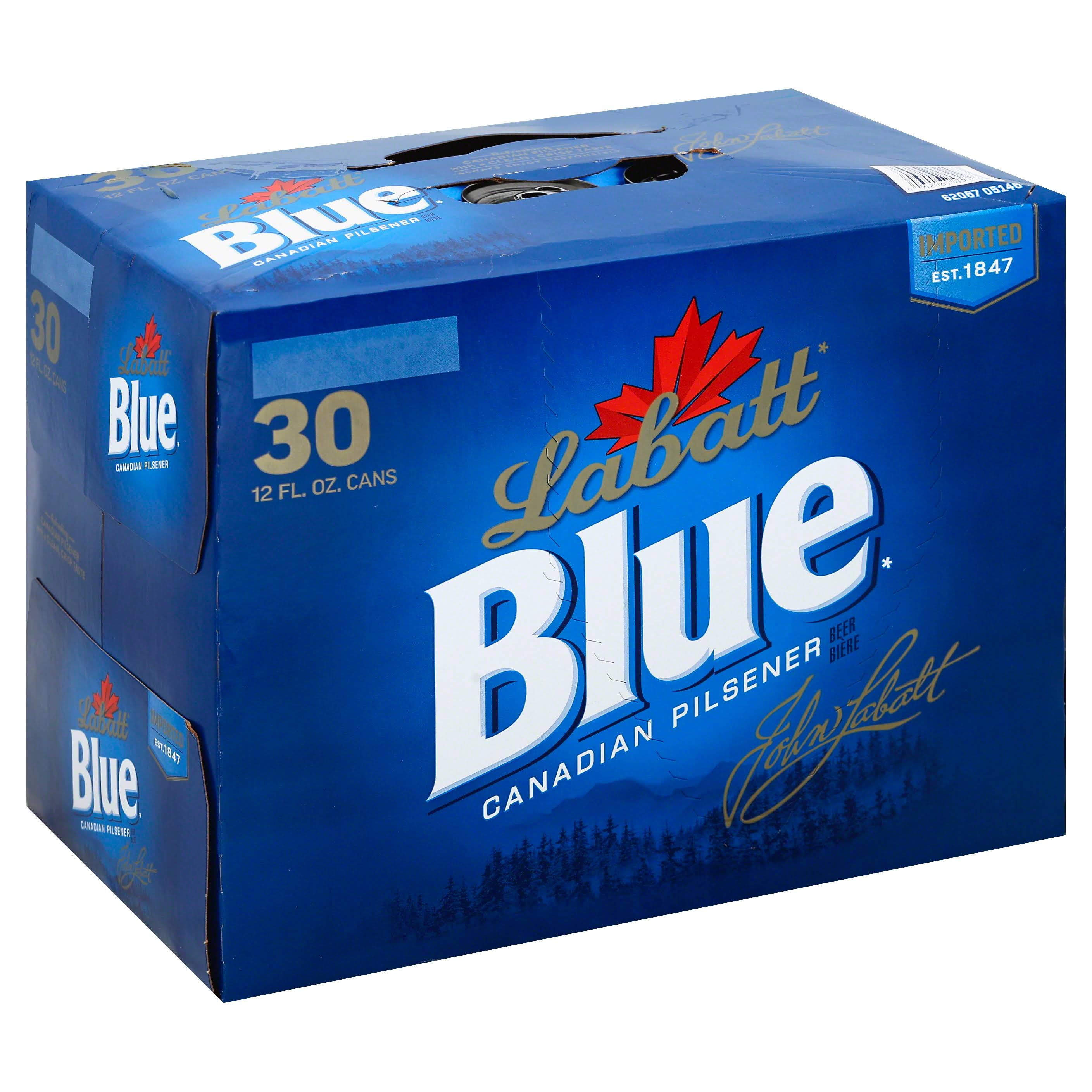 Labatt Blue Canadian Pilsener Beer - 12oz, 30 Count