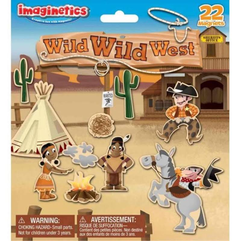 International Playthings Wild West Magnet Set