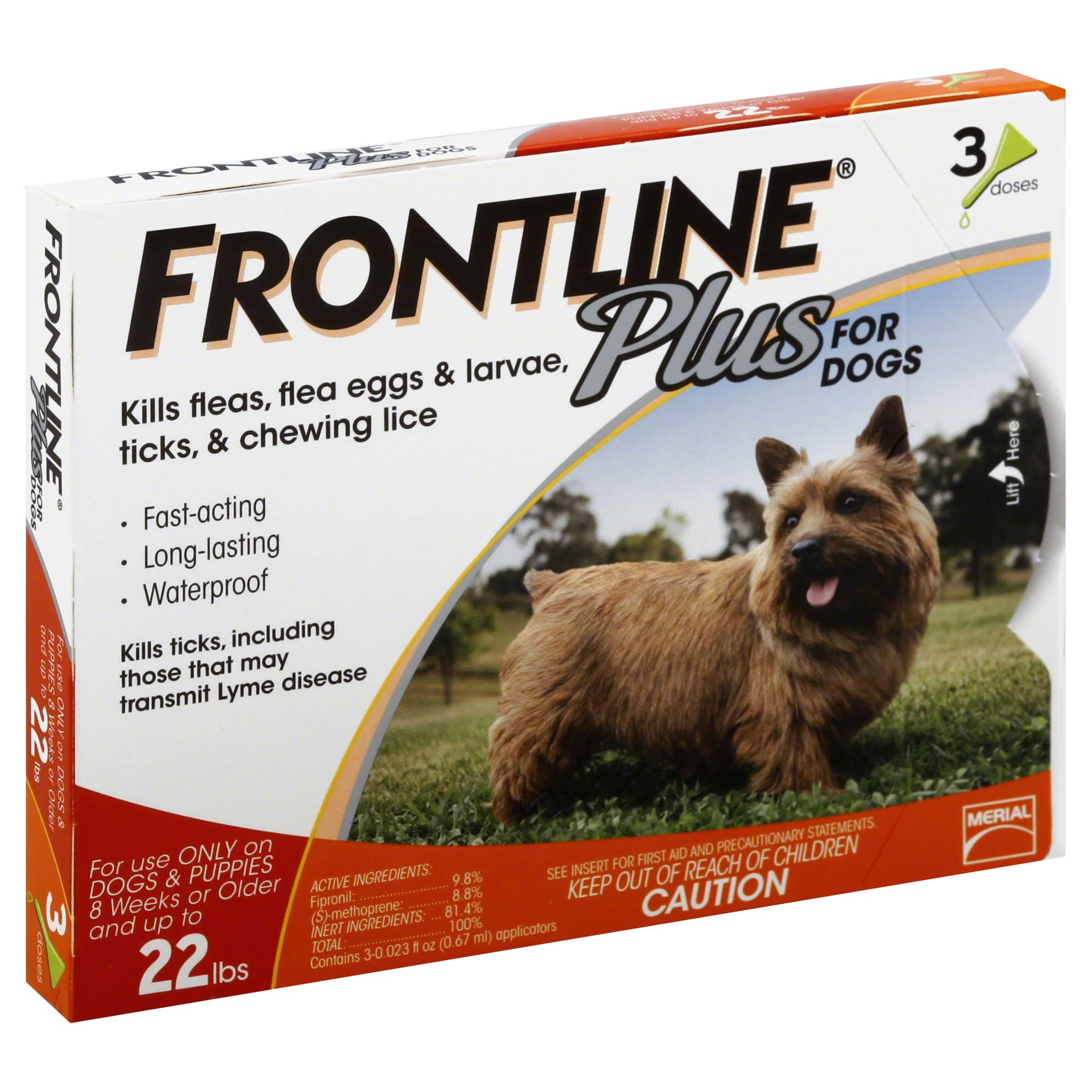 Frontline Plus Dog Flea Drops - 0.023oz, 3ct