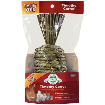 Oxbow Animal Health Timothy Hay Carrot Shape Chew