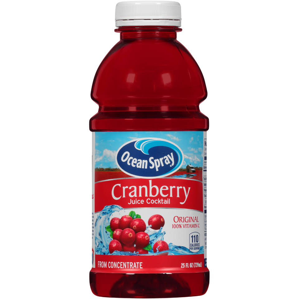 Ocean Spray Cranberry Juice Cocktail 25 Fl. Oz. Plastic Bottle