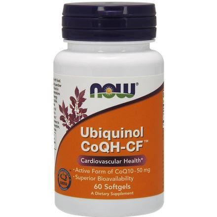Now Foods Ubiquinol CoQH-CF Supplement - 60 Softgels